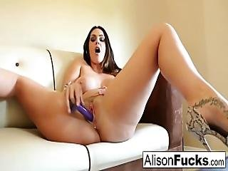 Big Boobed Hottie Alison Tyler Plays With Her Pussy