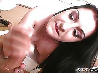 Handjob From Sexy Amateur Brunette In Hot Amateur Porn 1