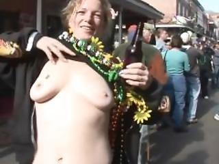Amateur, Babe, Big Tit, College, Flashing, Mardi Gras, Milf, Party, Pierced