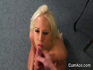 Wacky Centerfold Gets Jizz Load On Her Face Sucking All The Ejaculate