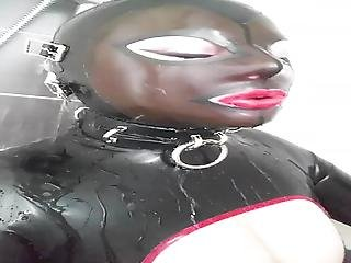 Rubberdoll Takes A Shower