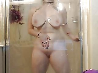 Amateur, Big Boob, Boob, Masturbation, Shower, Webcam