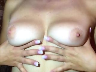 Massaging My Boobs With Oil Close Up