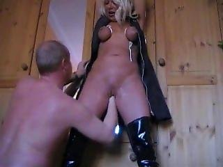 Fisting Tied Slave Silvia Deep In Her Cunt