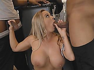 Milf Busty Amber Lynn Bach Fucking Foursome Interracial