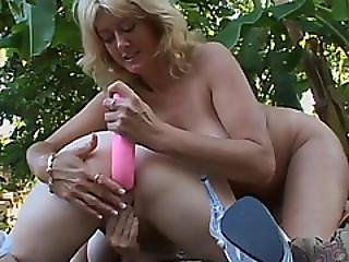 Double-ended Dildo Needs Some Lube Before Making Horny Pregnant Sluts Cum
