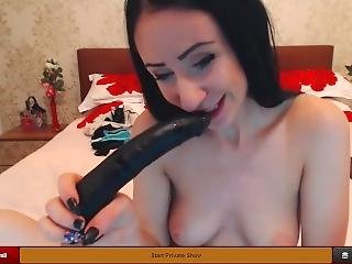 Lj Karinacamx Sloppy Deepthroat Blowjob And Masturbating
