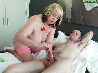 Mature Trisha And Happy Boy