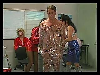 Guy Wrapped In Saran Wrap By Sexy Chicks?s=9