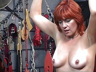 Bdsm, Bear, Brunette, Dungeon, Milf, Redhead, Whip