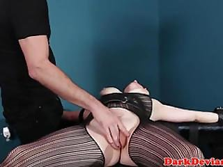 Bigtitted Ginger Sub Gagging On Maledom Dick