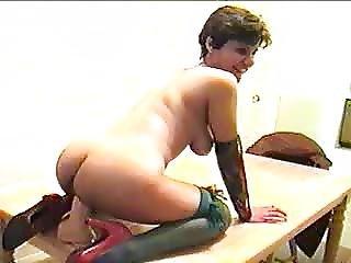 Wife Riding A Fat Dildo