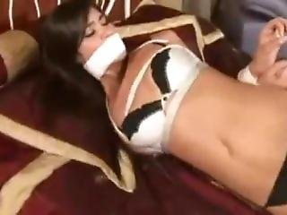 Kellie Krave Tied Up In Bikini On Bed By Other Girl