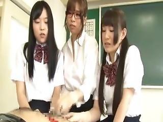 Girl Group Gloves Handjob