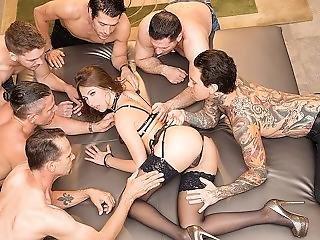 anal, bukkake, cumshot, dobbel anal, dobbel penetrering, gruppesex, hardcore, penetrering, pornostjerne