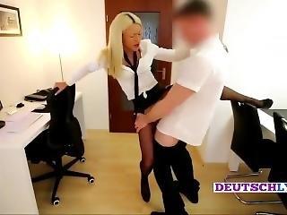 German Teen Office Secretary