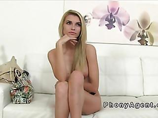 Tall Blonde Model Fucks In Casting