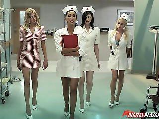 ano, pene, fantasía, sexando, enfermera