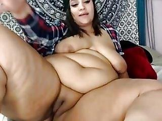 Amateur, Bbw, Gros Sein, Black, Seins, Cul, ébène, Grosse, Webcam