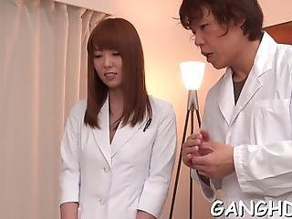 Japanese Enjoys Explicit Double Toying During Wild Group Sex