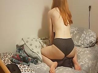 Horny Little Redhead Littleredpanty Dry Humps A Pillow And Cums Hard