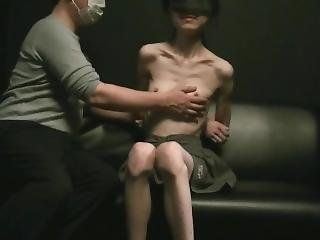 Skinny Japanese Girl Posing