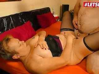 Letsdoeit - Chubby German Granny Rough Fucked By Lover