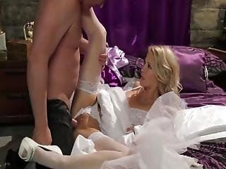 Newly Married Blonde Mom Id Like To Fuck  Inside Missionary Around Anal Plug Up Her Brown Eye