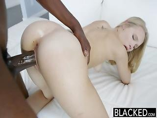 Big Black Cock, Black, Blonde, Blowjob, Cream, Creampie, Dick, Gagging, Interracial