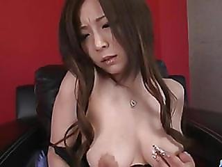 Big Tits, Ayami, Tries Dildo Up Her Tight Pussy