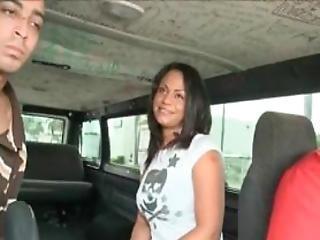 Teen Mulatta Enjoying A Huge Penis In The Sex Bus