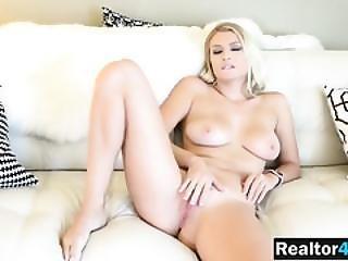 Babe, Stort Bryst, Blond, Fed, Foreplay, Slik, Naturlig, Naturlige Bryster, Oral, Pornostjerne, Pov, Fisse, Fisse Slikning, Trimmed