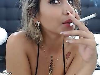 Sexy Babe Smoking