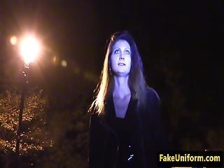 Policeman Pussy Fucks Drunk Slut In Graveyard