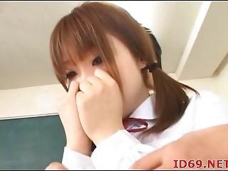asiatique, belle, grosse, japonaise, au volant, école, sexy, Ados