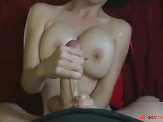 Easy Handjob From A Sexy Girl