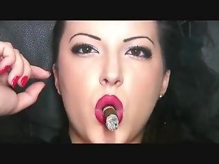 Alexxxya Inhaling, Dangling Cigar