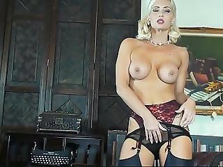 Hot Secretary In Black Ff Nylons