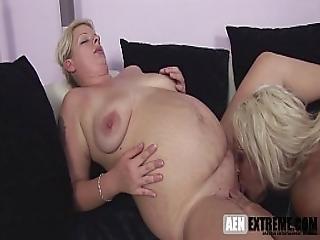 Pregnant Mature Lesbian Sex