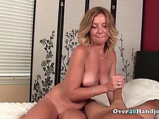 blonde, ejaculatie, handjob, volwassen, penis, slet, plagen