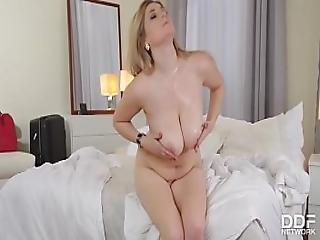 Titty Fuck On The Menu - Newcomer Gets A Deep Fuck
