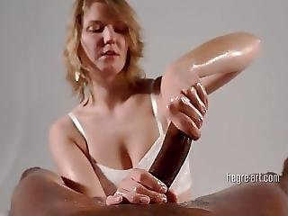 Charly - 10 Inches Huge Black Cock Milked Dry By White Hotty