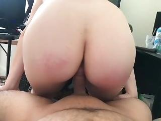 Barely 18yo Highschool Pawg Rides Dick - Almost Graduation Time!