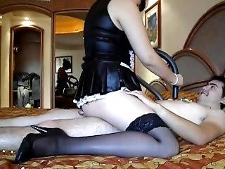 Big Tit French Maid Sucks Items From Boyfriend And Gives Some Cock Vacuumin