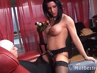 Milf Likes Cock Stroking And Fucking
