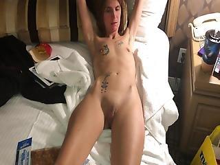 Skinny Tattooed Wife Taking A Nap