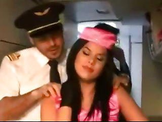 Sexy Stewardess Madison Parker
