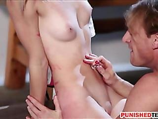 Poor Teen Blonde Babe Maddy Rose Chained And Gets Wrecked