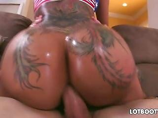 Butthole Fuck Tattoed Bubble Booty Bella Bellz
