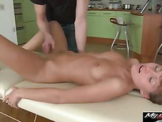 Hot Blonde Russian Teen Gets More Than Just A Massage